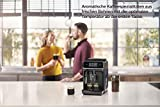 Philips 2200 Serie EP2220/10  Kaffeevollautomat, 2 Kaffeespezialitäten, Schwarz/Schwarz-gebürstet