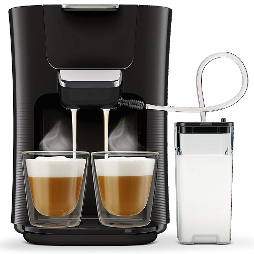 Philips Senseo Kaffeepadmaschine mit Milchaufschäumer HD6570 60
